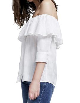 BLUSA VOLANTE WANNA LISTAS LUREX