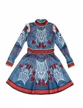 VESTIDO HIGHLY PREPPY PRINT AZUL