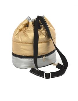 MOCHILA TOUS PLEAT UP ORO-PLATA