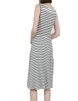 VESTIDO MOLLY BRACKEN RAYAS MARINERO