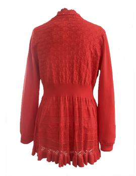 CHAQUETA MOLLY BRACKEN LARGA ROJA