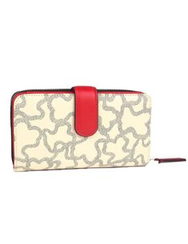 BILLETERA TOUS M K ICON MULTI-BEIGE
